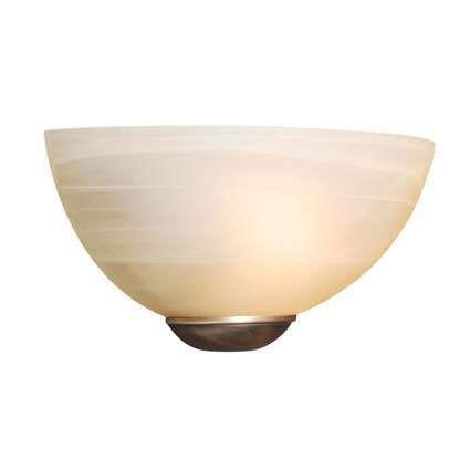 Vägglampa-'Milano-25'-Klassisk-benvit/glas---Passande-för-LED-/-Inomhus