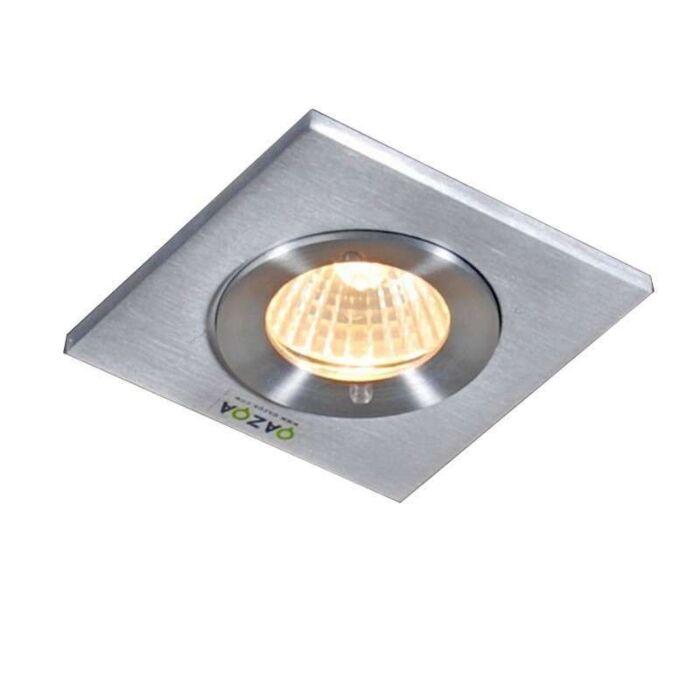 Spotlight/downlight-'Xena-Q'-Moderna-aluminium---Passande-för-LED-/-Utomhuslampa,-Inomhus,-Badrum