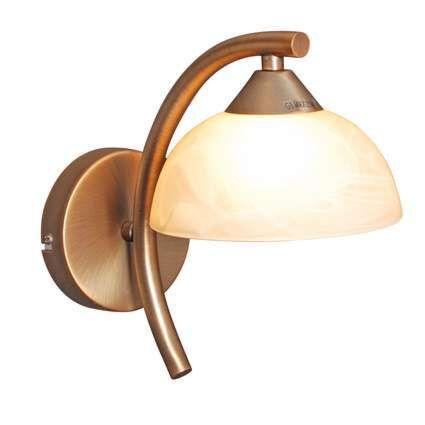 Vägglampa-'Milano-15'-Klassisk-brons---Passande-för-LED-/-Inomhus