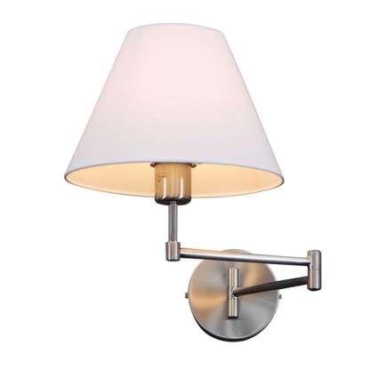 Vägglampa-med-skärm-'Swing'-Klassisk-stål---Passande-för-LED-/-Inomhus