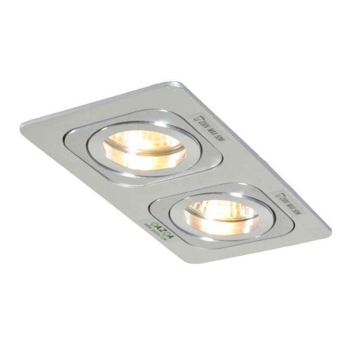 Stor-spotlight/downlight-'Random-2'-Design-aluminium---Passande-för-LED-/-Inomhus