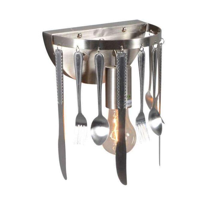 Vägglampa-'Kitchen'-Moderna-stål---Passande-för-LED-/-Inomhus