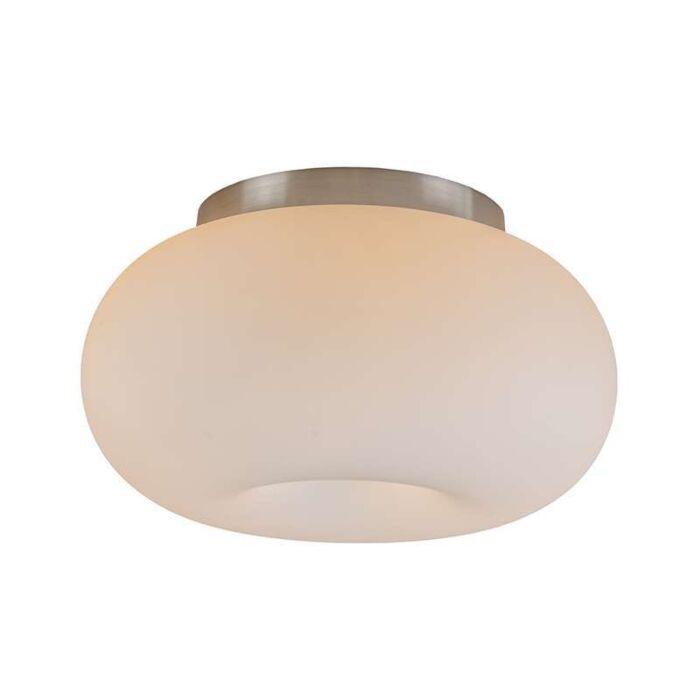 Plafond-'Seta-25'-Retro-vit/glas---Passande-för-LED-/-Inomhus