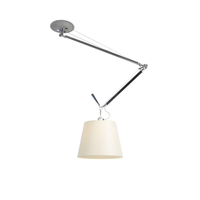 Design-hängande-lampa-med-skugga---Artemide-Tolomeo-Sospensione-Decentrata