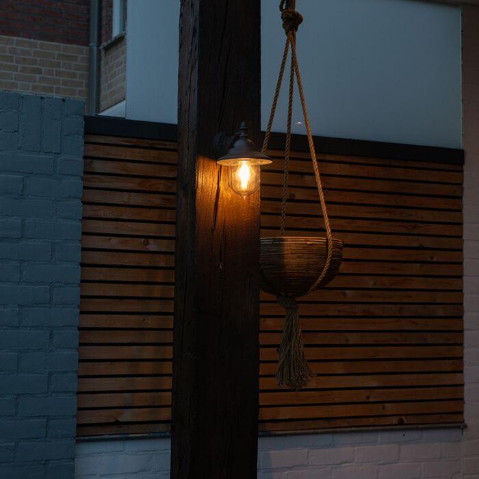 Romantisk-vägglampa-utomhus-mörkgrå---Oxford