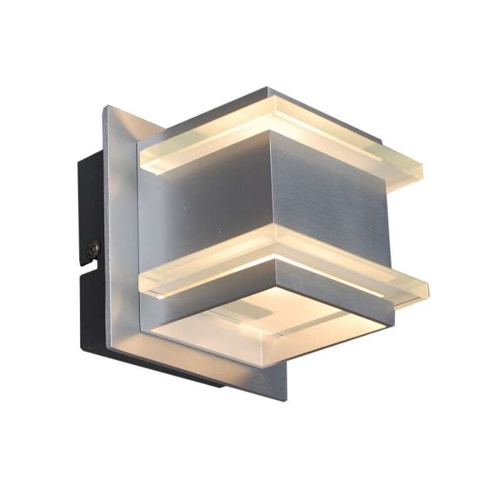 Design-vägglampa-aluminium---Block