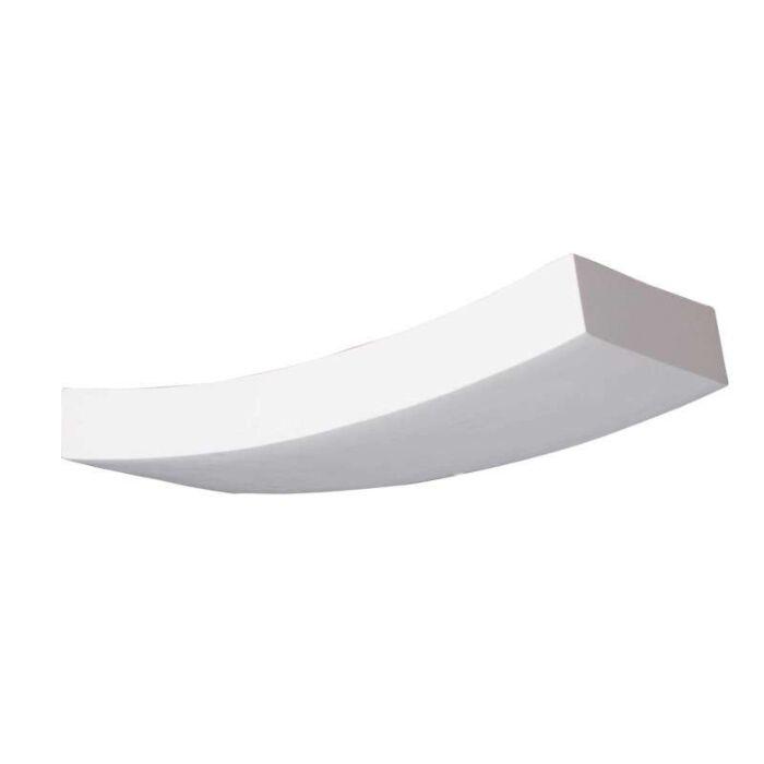 Vägglampa-'Gipsy-Bendo'-Moderna-vit/gips---Passande-för-LED-/-Inomhus