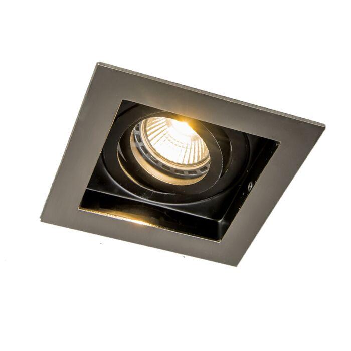 Spotlight/downlight-'Carree-1'-Moderna-stål---Passande-för-LED-/-Inomhus