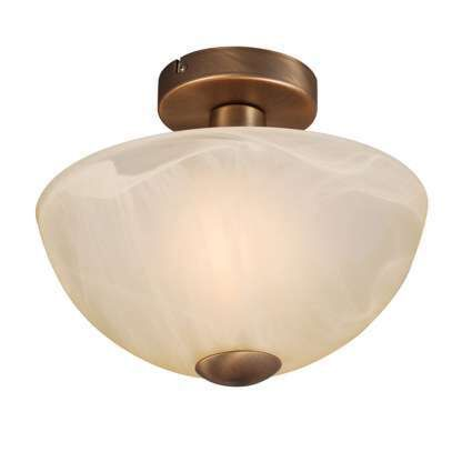 Plafond-'Milano-30'-Klassisk-brons/glas---Passande-för-LED-/-Inomhus
