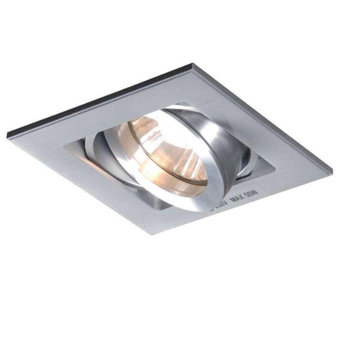 Spotlight/downlight-'Quadro-1'-Design-aluminium---Passande-för-LED-/-Inomhus