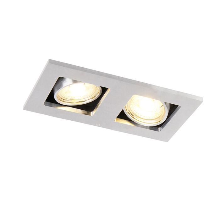Rektangulär-inbyggd-spotlight-2-lätt-aluminium---Qure