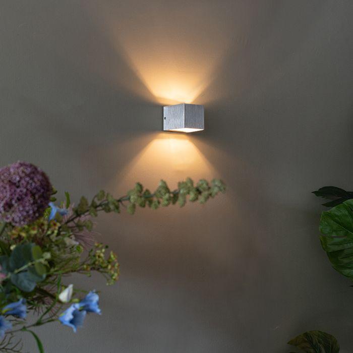 Vägglampa-'Transfer'-Design-aluminium---Passande-för-LED-/-Inomhus