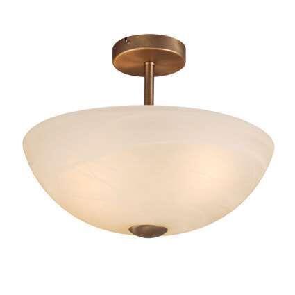 Plafond-'Milano-40'-Klassisk-brons/glas---Passande-för-LED-/-Inomhus