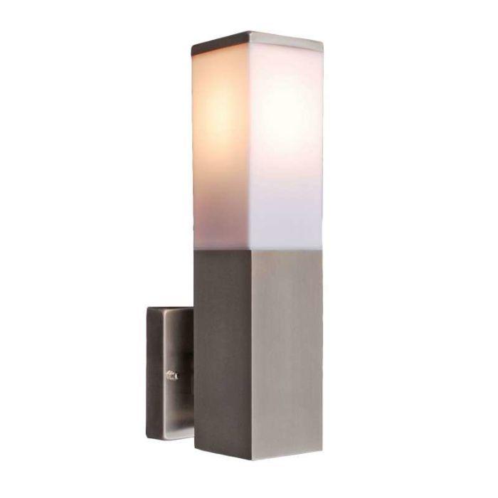 Vägglampa-'Malios'-Moderna-rostfritt-stål---Passande-för-LED-/-Utomhuslampa