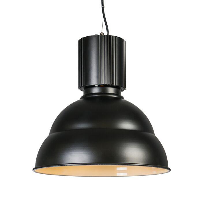 Taklampa-'Industrie'-Industriell-svart/aluminium---Passande-för-LED-/-Inomhus