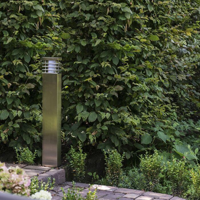 Lykta-till-gång-och-terrass-'Norton-80'-Moderna-rostfritt-stål---Passande-för-LED-/-Utomhuslampa