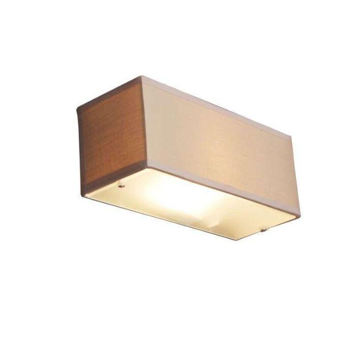 Vägglampa-med-skärm-'Drum-S'-Moderna-beige/tyg---Passande-för-LED-/-Inomhus