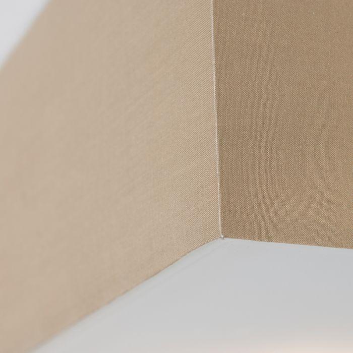 Plafond-med-skärm-'Drum-35-Q'-Moderna-beige/tyg---Passande-för-LED-/-Inomhus