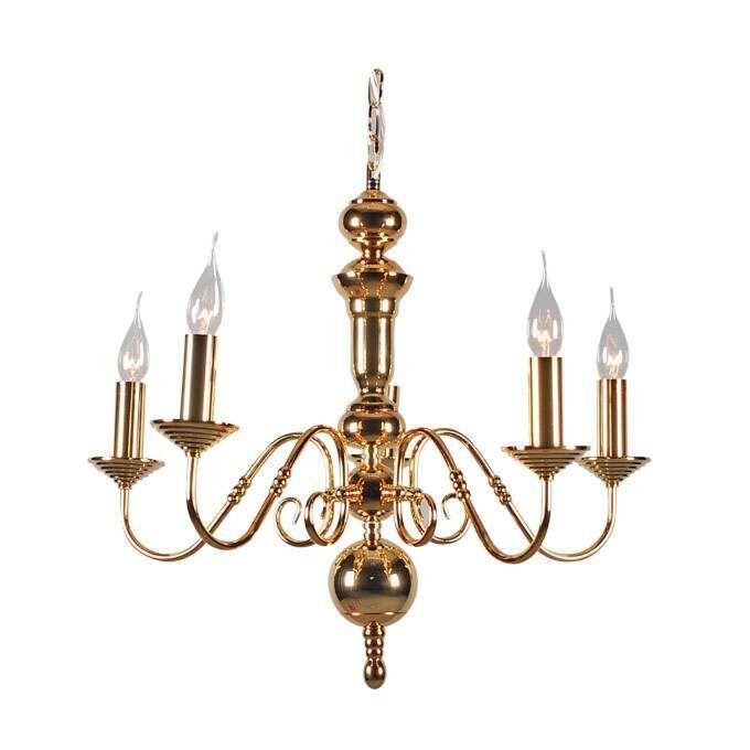 Takkrona-'Old-Dutch-5'-Klassisk-guld---Passande-för-LED-/-Inomhus