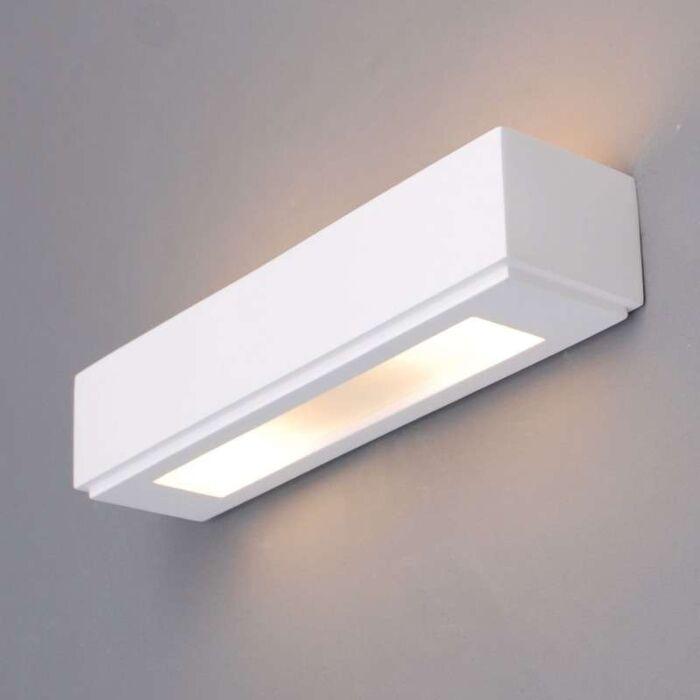 Vägglampa-'Gipsy-Colmar'-Moderna-vit/gips---Passande-för-LED-/-Inomhus