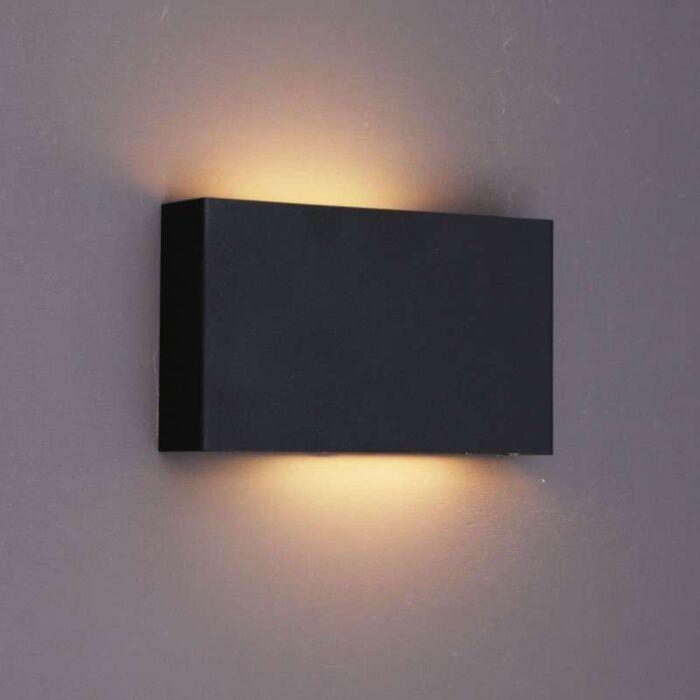 Vägglampa-'Otan'-Design-svart/metall---Passande-för-LED-/-Inomhus