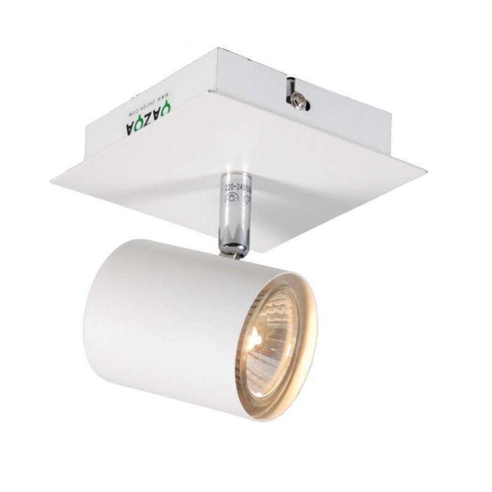 Plafond-strålkastare-'Attractive-1'-Moderna-vit/metall---Passande-för-LED-/-Inomhus