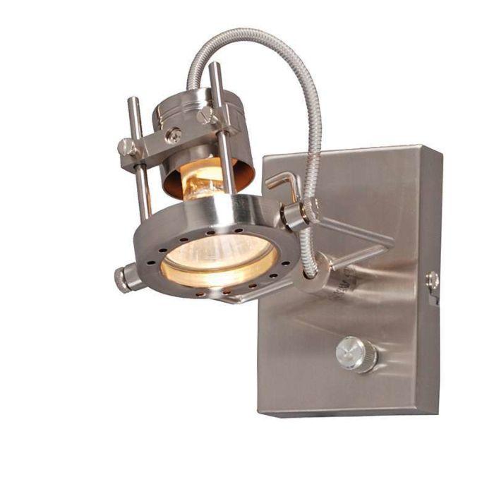 Vägglampa-'Suplux-1'-Moderna-stål---Inomhus