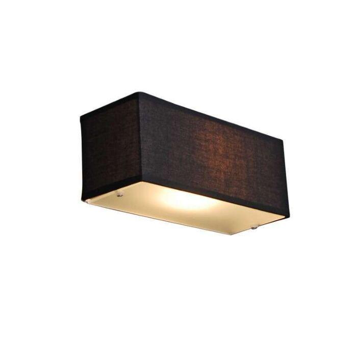 Vägglampa-med-skärm-'Drum-S'-Moderna-svart/tyg---Passande-för-LED-/-Inomhus