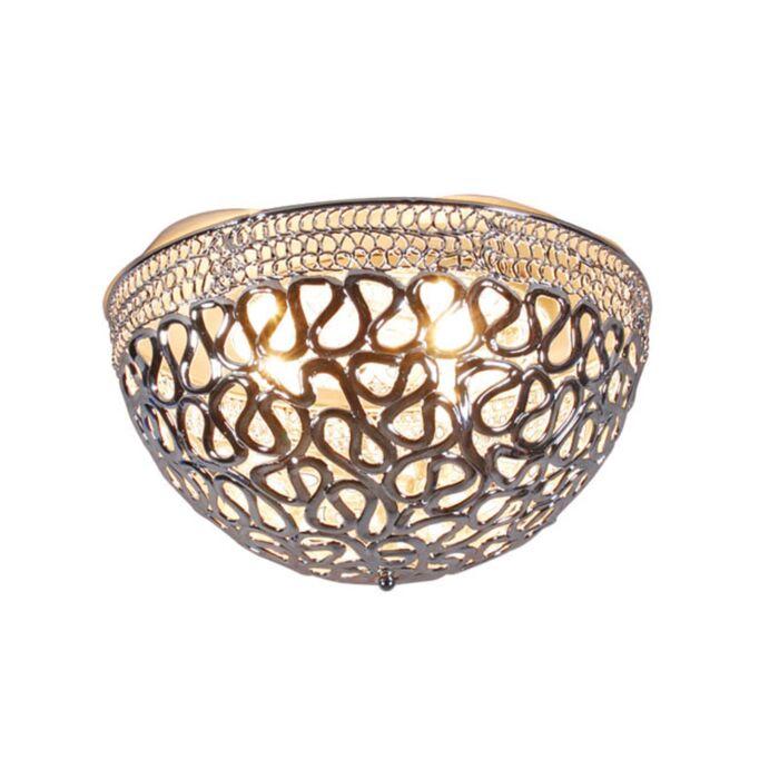 Plafond-'Pharaoh-50'-Moderna-krom/polyester---Passande-för-LED-/-Inomhus