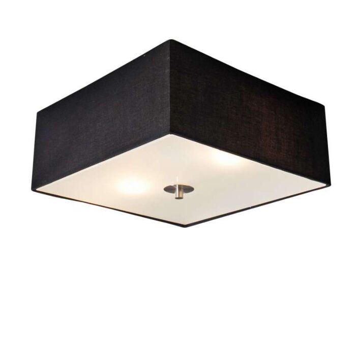 Plafond-med-skärm-'Drum-35-Q'-Moderna-svart/tyg---Passande-för-LED-/-Inomhus