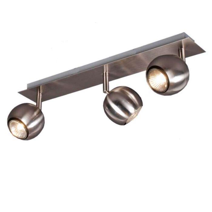 Plafond-strålkastare-'Gissi-3'-Moderna-stål---Passande-för-LED-/-Inomhus