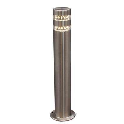 Lykta-till-gång-och-terrass-'Satin-50'-Moderna-rostfritt-stål---LED-inkluderat-/-Utomhuslampa