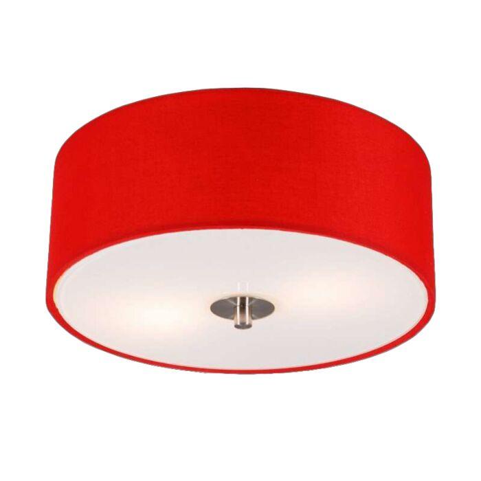 Modern-taklampa-röd-30-cm---Trumma