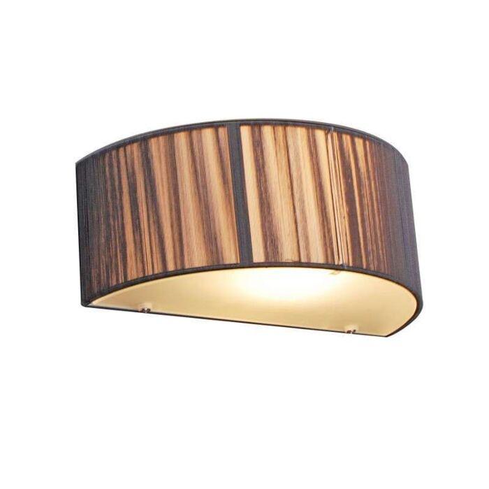 Vägglampa-med-skärm-'Drum-Rope-R'-Moderna-grafit/tyg---Passande-för-LED-/-Inomhus