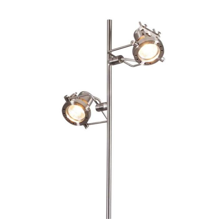 Golvlampa-'Suplux-2'-Moderna-stål---Passande-för-LED-/-Inomhus