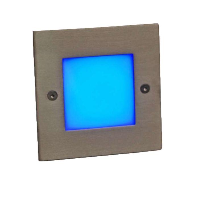 Spotlight/downlight-'LEDlite-Square-10-B'-Moderna-rostfritt-stål---LED-inkluderat-/-Utomhuslampa,-Inomhus,-Badrum