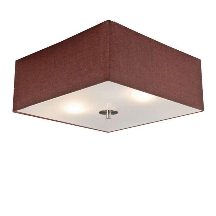 Plafond-med-skärm-'Drum-35-Q'-Moderna-brun/tyg---Passande-för-LED-/-Inomhus