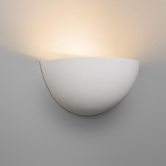 Vägglampa-'Gipsy'-Moderna-vit/gips---Passande-för-LED-/-Inomhus