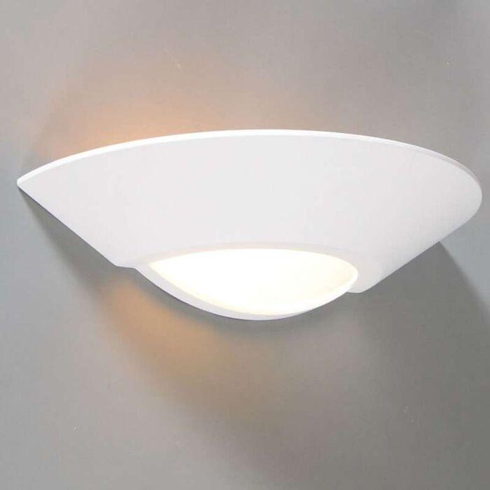 Vägglampa-'Gipsy-Cannes'-Moderna-vit/gips---Passande-för-LED-/-Inomhus
