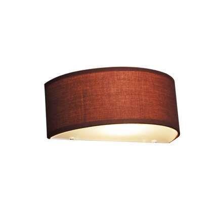 Landsväggslampa-halvrund-brun---Trumma