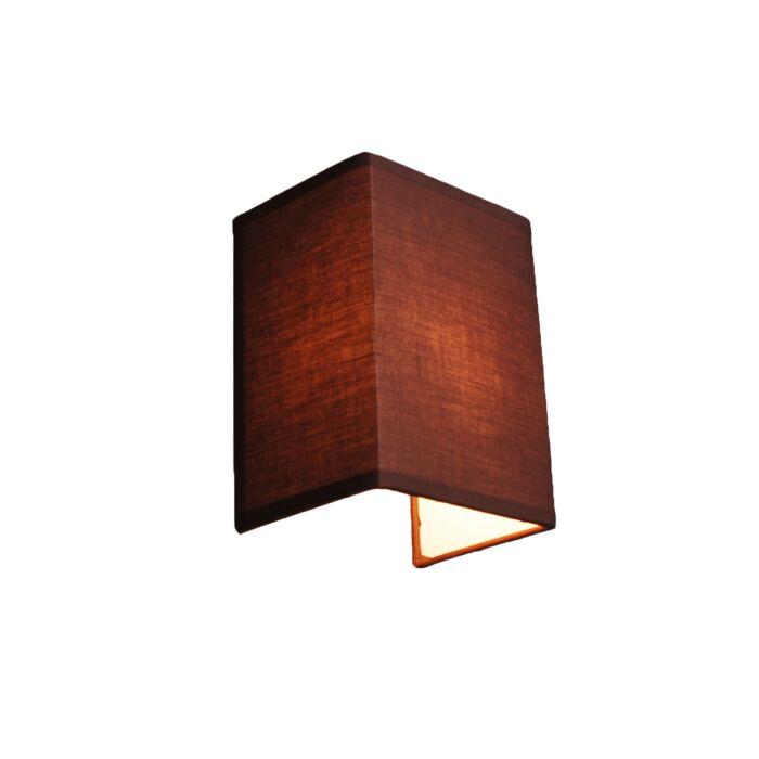 Lantlig-vägglampa-brun---Vete