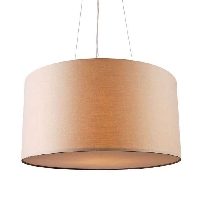 Taklampa-med-skärm-'Drum-60'-Moderna-beige/tyg---Passande-för-LED-/-Inomhus