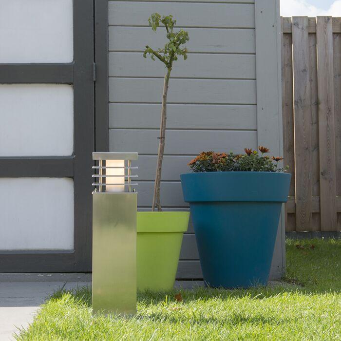Lykta-till-gång-och-terrass-'Norton-45'-Moderna-rostfritt-stål---Passande-för-LED-/-Utomhuslampa