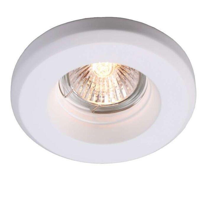 Spotlight/downlight-'Gipsy-R-Smooth'-Moderna-vit/gips---Passande-för-LED-/-Inomhus