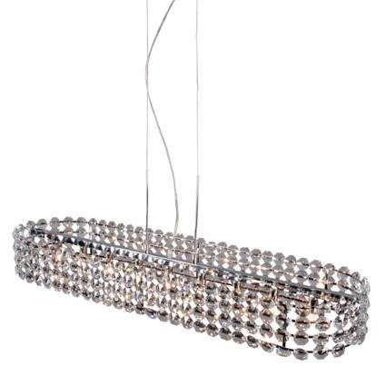 Stor-taklampa-'Monza-O'-Klassisk-transparent/kristall---Passande-för-LED-/-Inomhus
