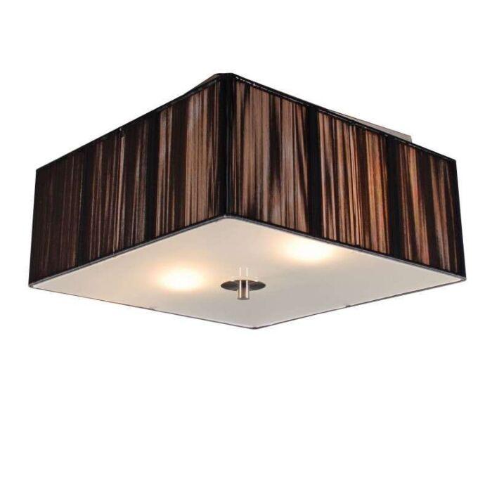 Plafond-med-skärm-'Drum-Rope-Q-35'-Moderna-grafit/tyg---Passande-för-LED-/-Inomhus