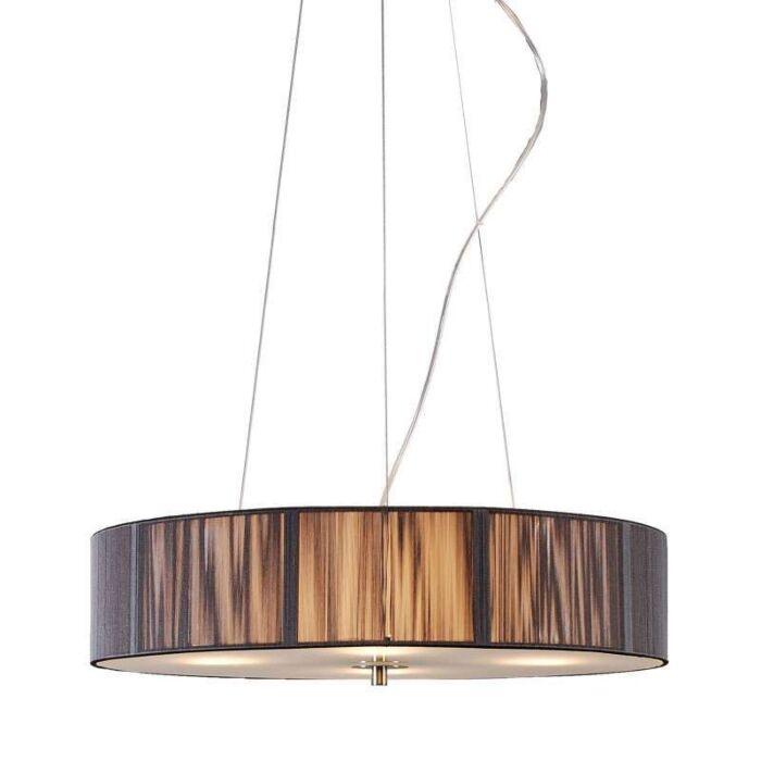 Taklampa-med-skärm-'Drum-Rope-R-50'-Moderna-grafit/tyg---Passande-för-LED-/-Inomhus