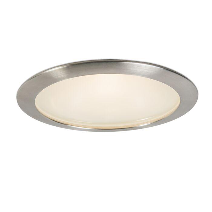 Stor-spotlight/downlight-'Splash-19'-Design-vit/glas---Passande-för-LED-/-Utomhuslampa,-Inomhus,-Badrum
