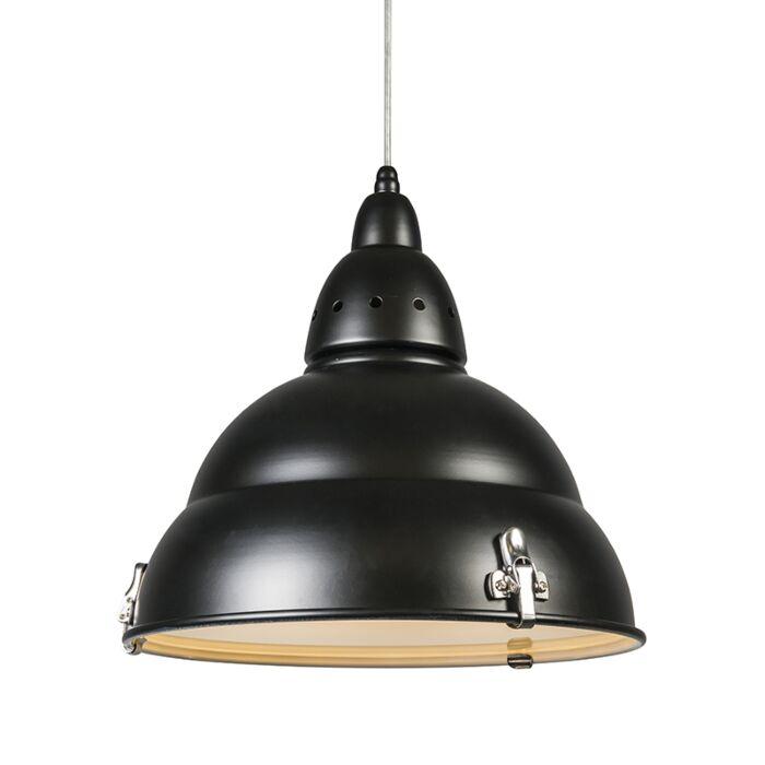 Taklampa-'Factory'-Industriell-svart/metall---Passande-för-LED-/-Inomhus