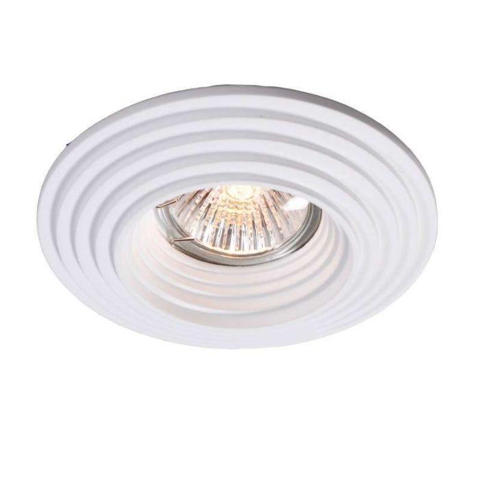 Spotlight/downlight-'Gipsy-R-Groove'-Moderna-vit/gips---Passande-för-LED-/-Inomhus